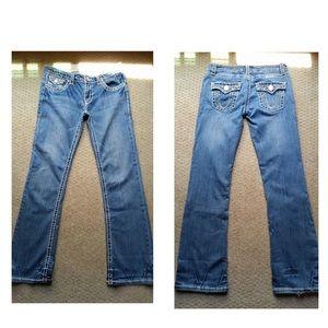L.A. Idol blue flare gemstone denim jeans
